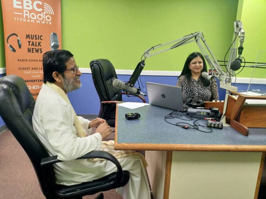 Baba talking at EBC Radio NJ Sept. 2018